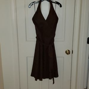 Nine West halter dress - brown in size 10